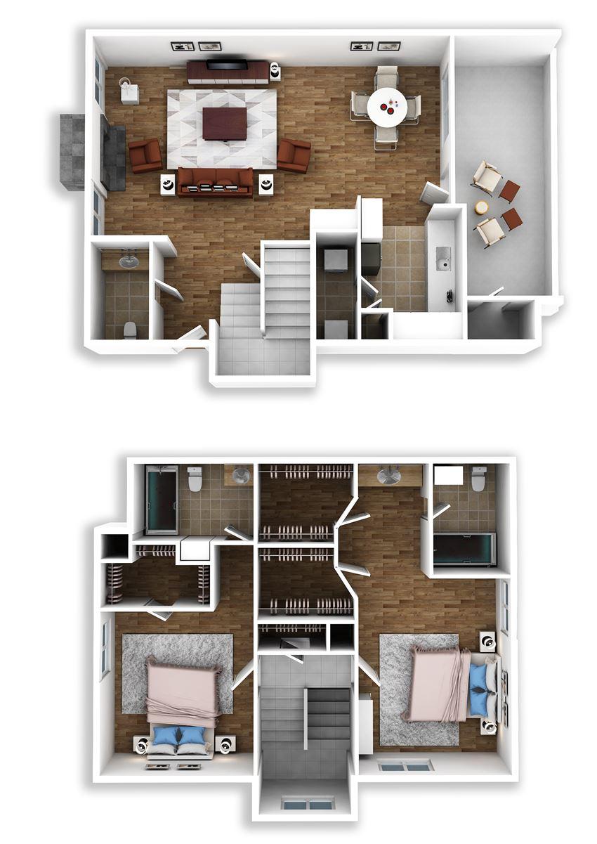 3 Bedroom / 2 Bath Townhome