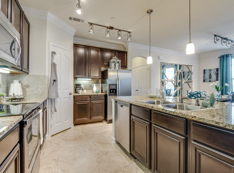 Espresso Cabinetry at Orion McCord Park, Little Elm, TX