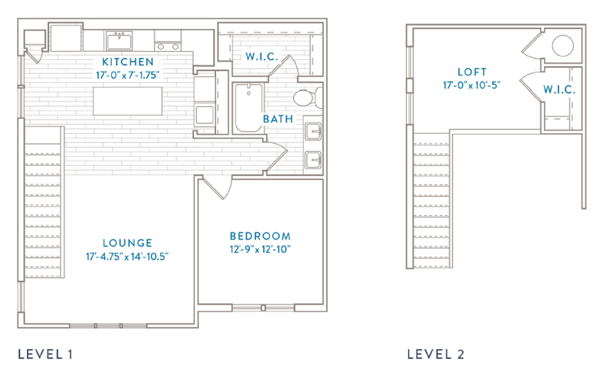 One Bedroom One Bath Floor Plan Capital Club at Indian Land