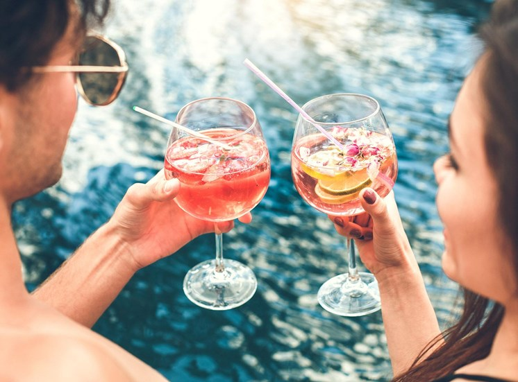393 North Stock photo cocktails