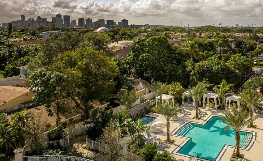 16 FORTY AERIAL OF POOL