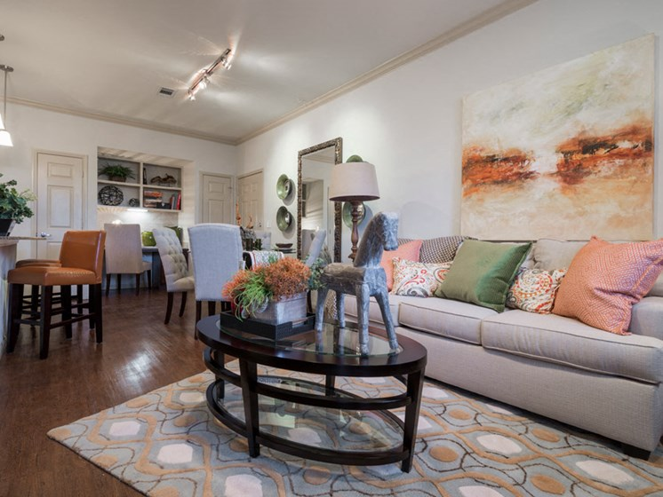 Living Room with Beautiful Painting at Faudree Ranch, Odessa, Texas