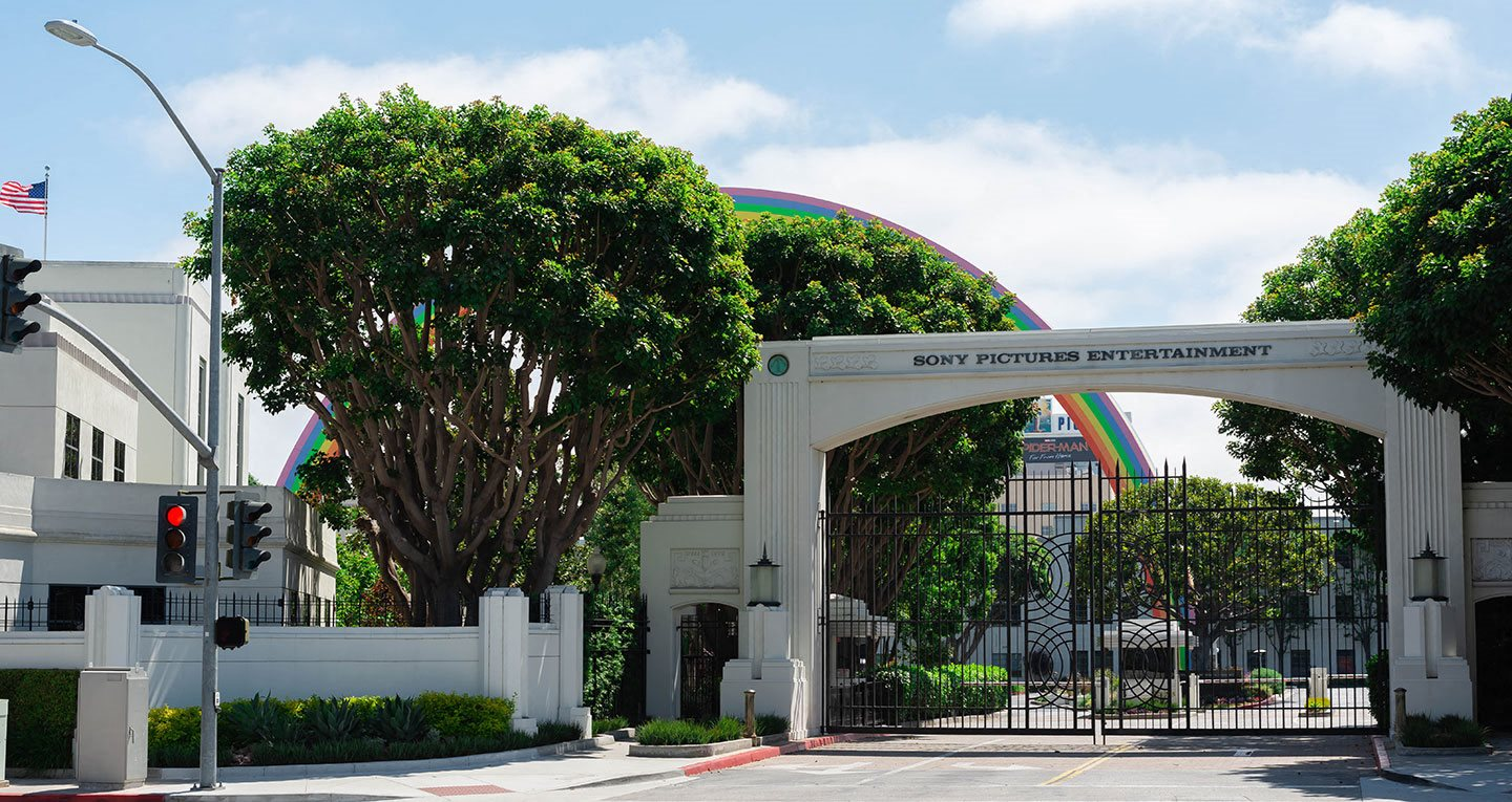 Sony Studios and their iconic rainbow just outside your door