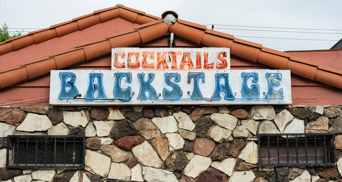 Backstage Bar and Grill is a local haunt, great for drinks and karaoke