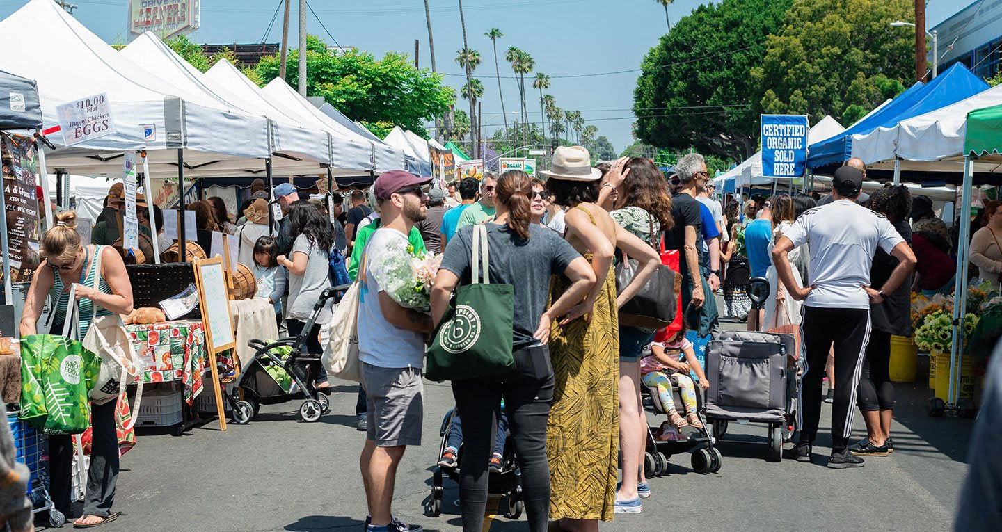 Culver City Farmers Market every Tuesday and Mar Vista Farmers Market every Sunday