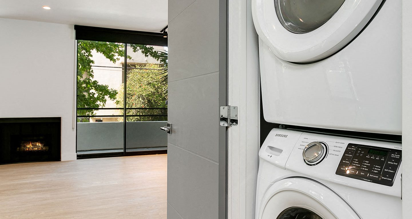 in-unit washers and dryers