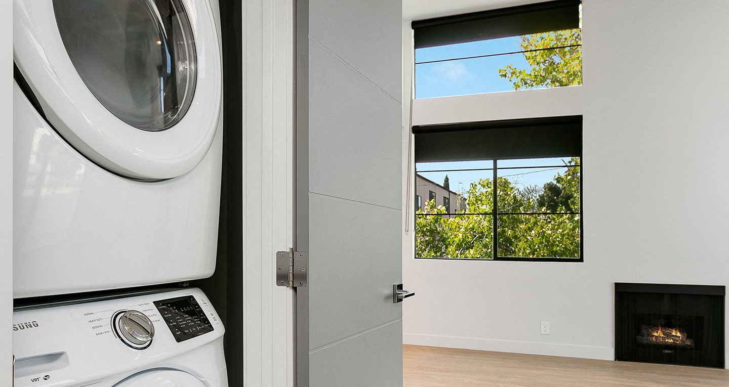 washers and dryers in every residence