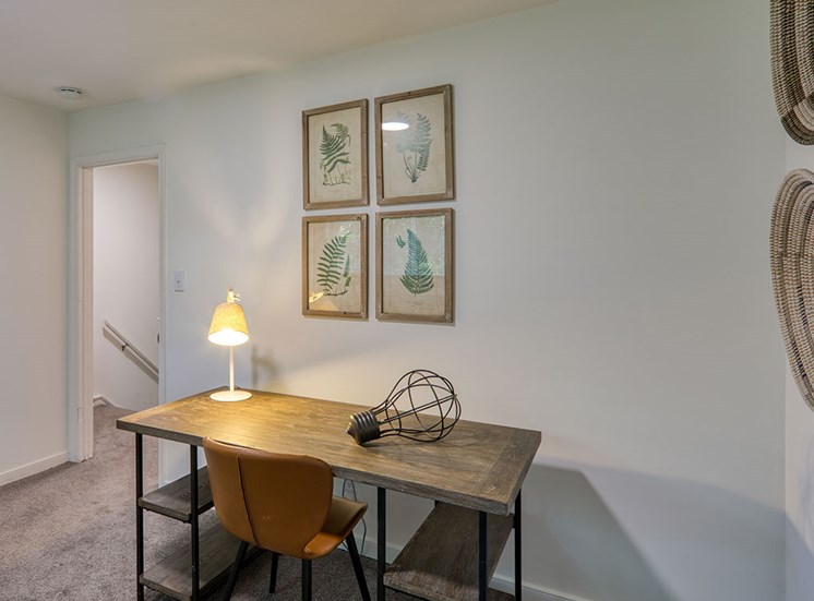 Desk and chair at Crystal Lakes Apartments