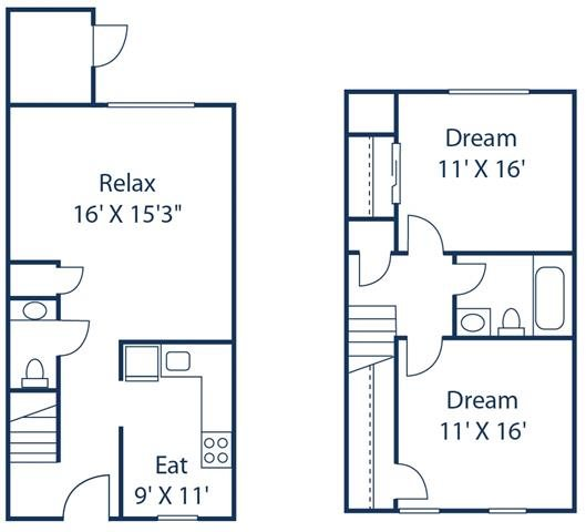 Floor Plans Of Crystal Lakes Apartments In Richmond, VA