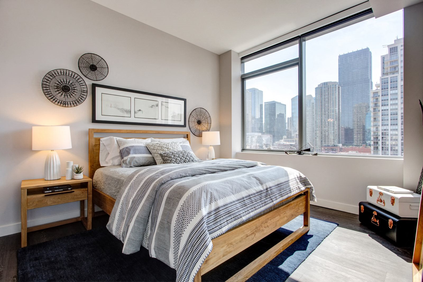 Fantastic Views From Master Bedroom at 640 North Wells, Chicago, 60654