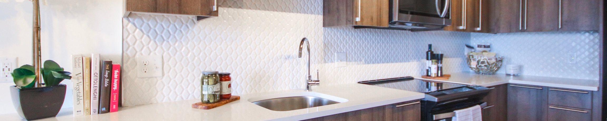 updated kitchen cabinets in Thorndike Exchange apartments