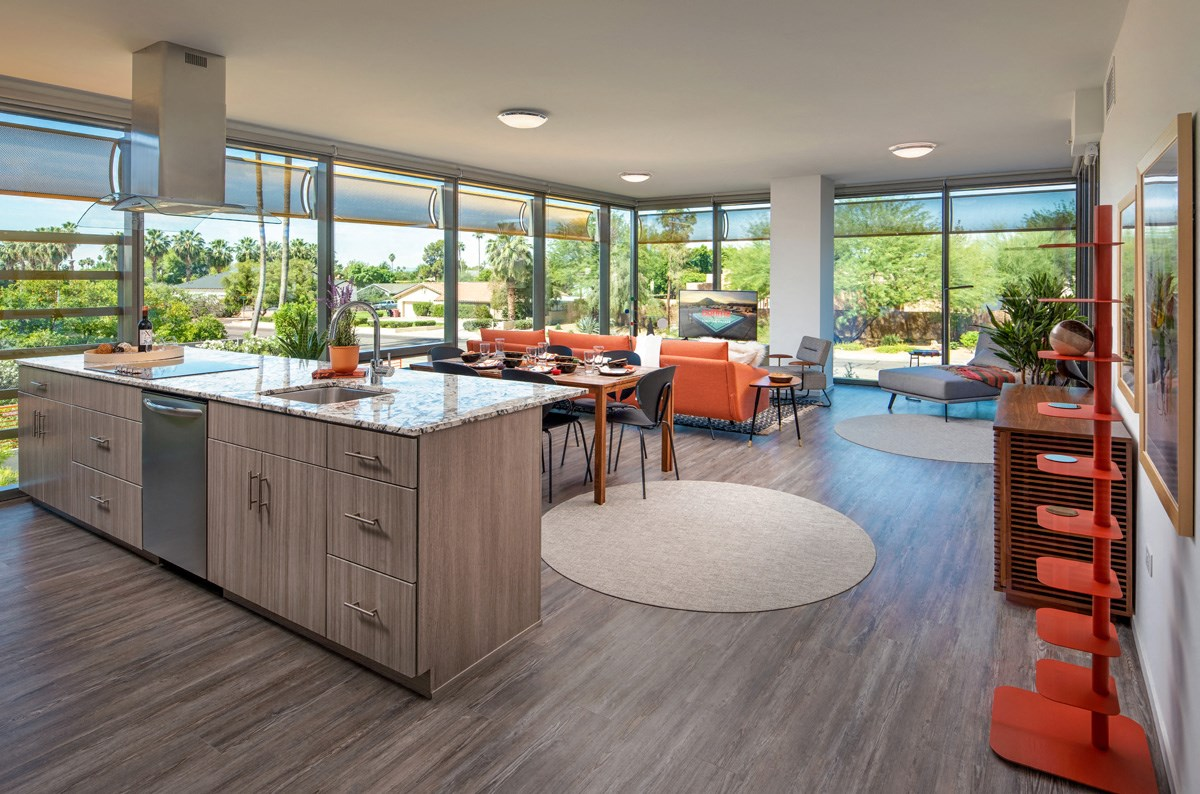 Shared spaces inside our Scottsdale upscale apartment complex