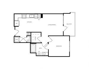 A1 apartment floorplan