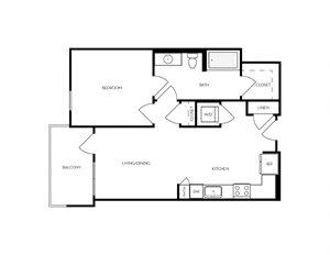 A4 apartment floorplan