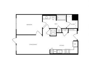 A6 apartment floorplan