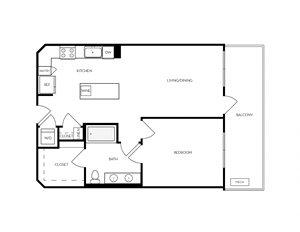 A8 apartment floorplan