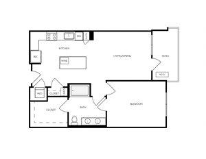 A9 apartment floorplan