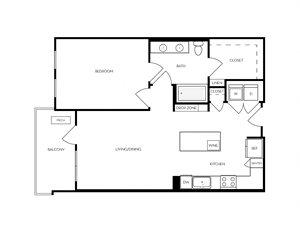 A10 apartment floorplan