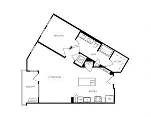 A13 apartment floorplan