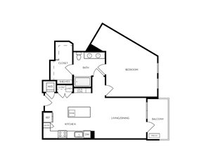 A14 apartment floorplan