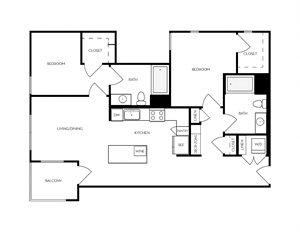 B1 apartment floorplan