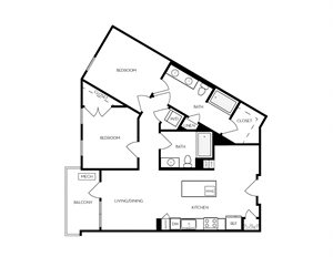 B2 apartment floorplan