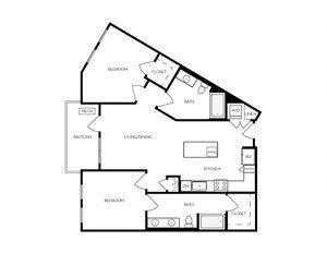 B3 apartment floorplan
