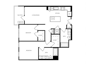 B4 apartment floorplan