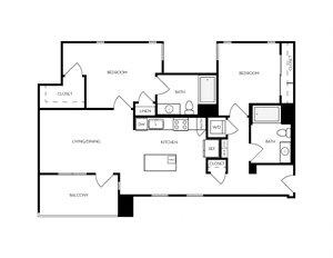 B5 apartment floorplan