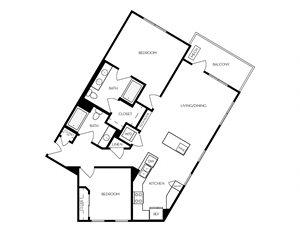 B7 apartment floorplan
