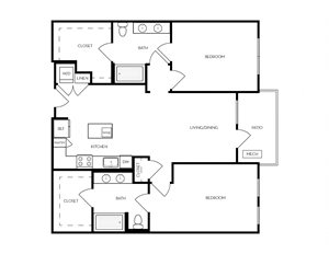 B8 apartment floorplan