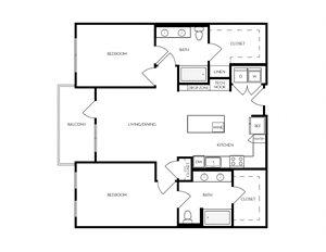 B9 apartment floorplan