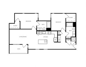 B10 apartment floorplan