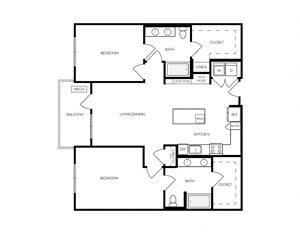 B12 apartment floorplan