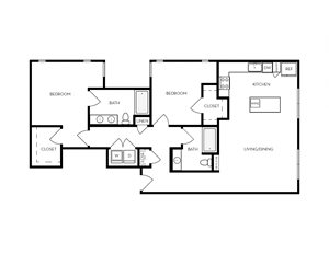 B13 apartment floorplan