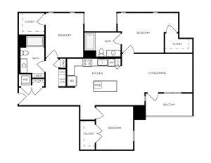 C1 apartment floorplan