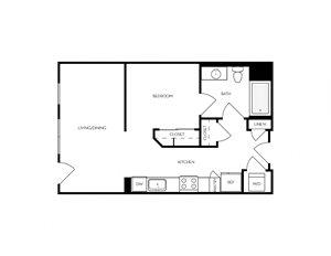 S1 Studio apartment floorplan