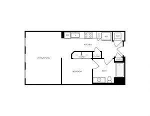 S2 Studio apartment floorplan
