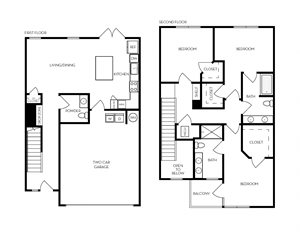 TH201 Townhome floorplan