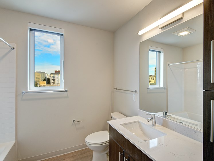 Full size bathroom with natural light