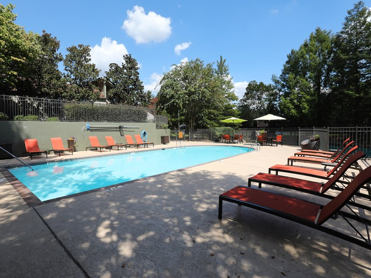 Swimming Pool at Woods of Post House Apartments in Jackson, TN