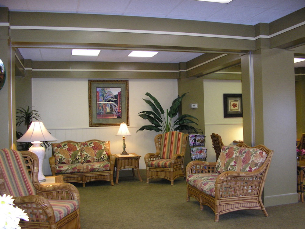 furnished lobby with comfortable seating