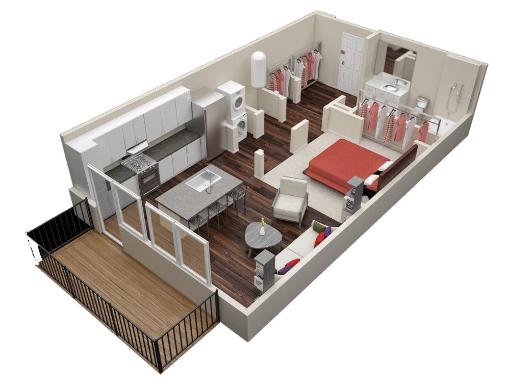 Studio 1 2 3 Bedroom Apartments In Atlanta Ga Millworks