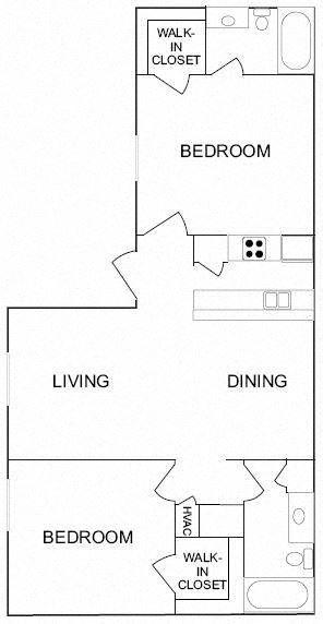 2 Bedroom/2 Bathroom