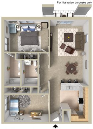 Two Bedroom Large A