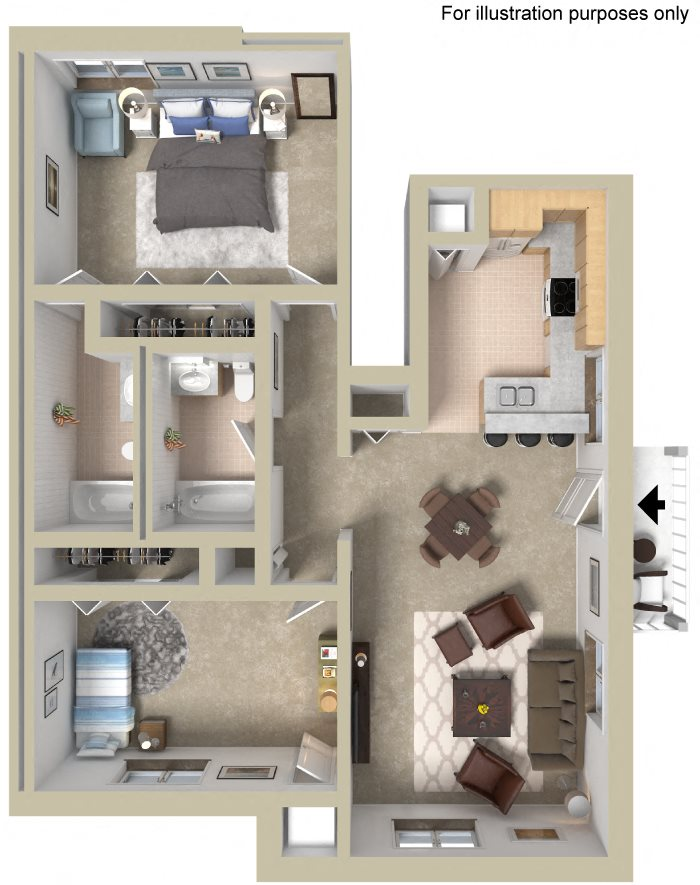 Lower Flat Floor Plan 7