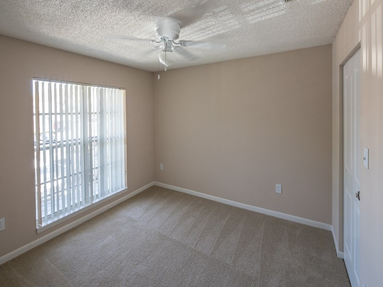 Bloomingdale Woods Apartments Valrico Florida Model Bedroom with Ceiling Fan