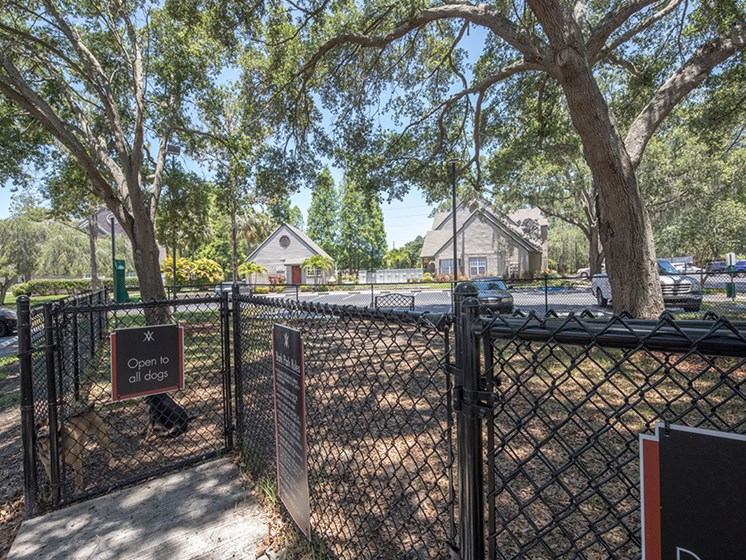 Bloomingdale Woods Apartments Valrico Florida Fenced In Dog Park