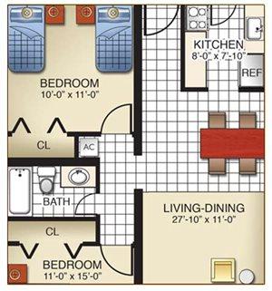 2 Bedroom Model