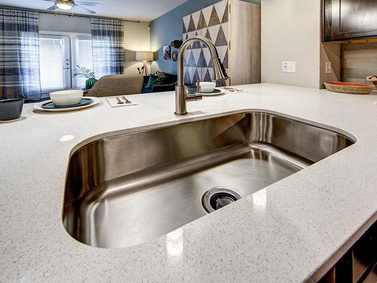 model unit kitchen sink